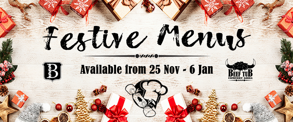 Buccleuch Festive Menu - Available from 24 November to 6 January
